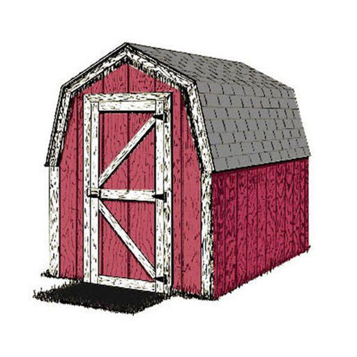 View a Larger Image of Woodworking Project Paper Plan to Build Small and Simple Shed