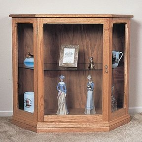 Woodworking Project Paper Plan to Build Curio Cabinet