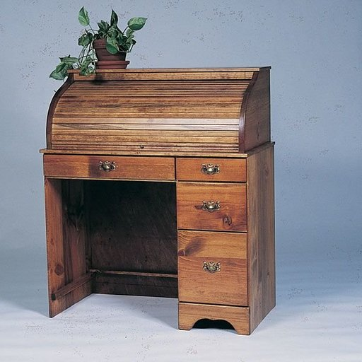 View a Larger Image of Woodworking Project Paper Plan to Build Small Roll-Top Desk, Plan No. 663
