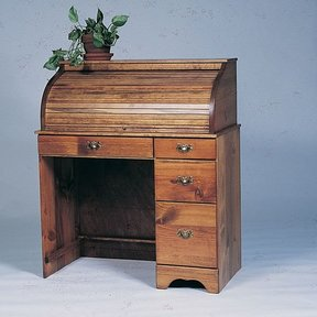 Woodworking Project Paper Plan to Build Small Roll-Top Desk, Plan No. 663