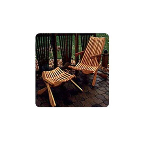 View a Larger Image of Woodworking Project Paper Plan to Build Smooth Folding Lawn Chair