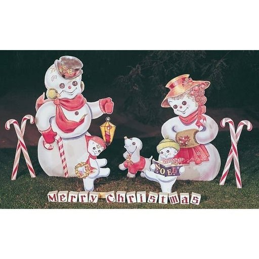 View a Larger Image of Woodworking Project Paper Plan to Build Snow Family, Plan No. C6