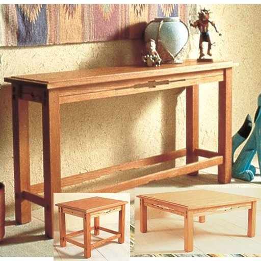 View a Larger Image of Woodworking Project Paper Plan to Build Southwest Trio of Tables