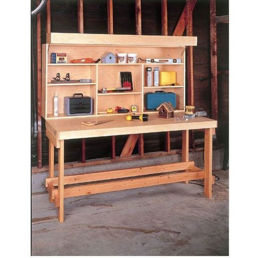 View a Larger Image of Woodworking Project Paper Plan to Build Space-Saver Workbench