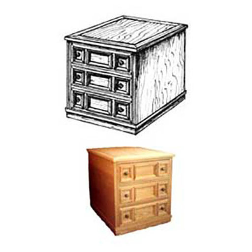 View a Larger Image of Woodworking Project Paper Plan to Build Spanish End Table