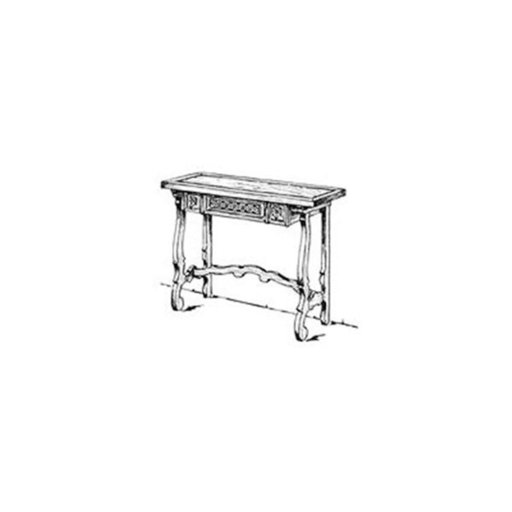 View a Larger Image of Woodworking Project Paper Plan to Build Spanish Hall Sofa Table