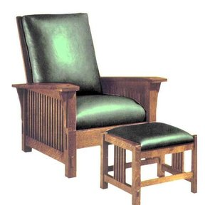 Woodworking Project Paper Plan to Build Spindle Arm Morris Chair, AFD182