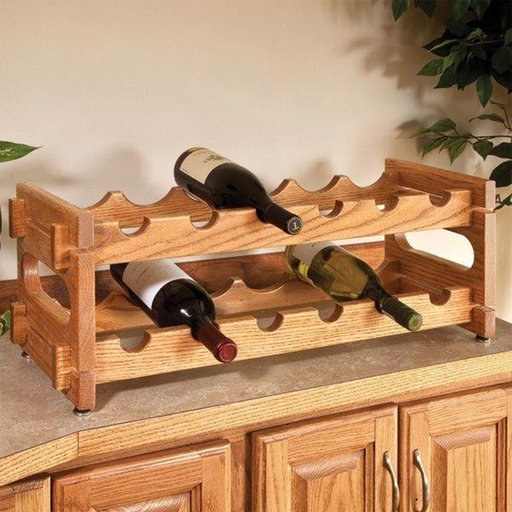 View a Larger Image of Woodworking Project Paper Plan to Build Stackable Wine Racks