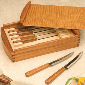 Woodworking Project Paper Plan to Build Steak Knife Box Set