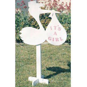 Woodworking Project Paper Plan to Build Stork Birth Announcements, Plan No. 889