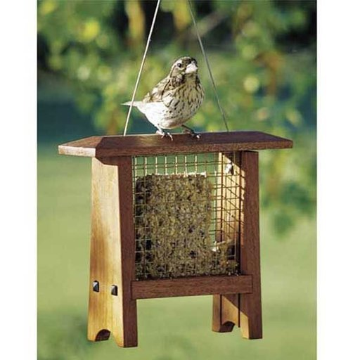 View a Larger Image of Woodworking Project Paper Plan to Build Suet Bird Feeder