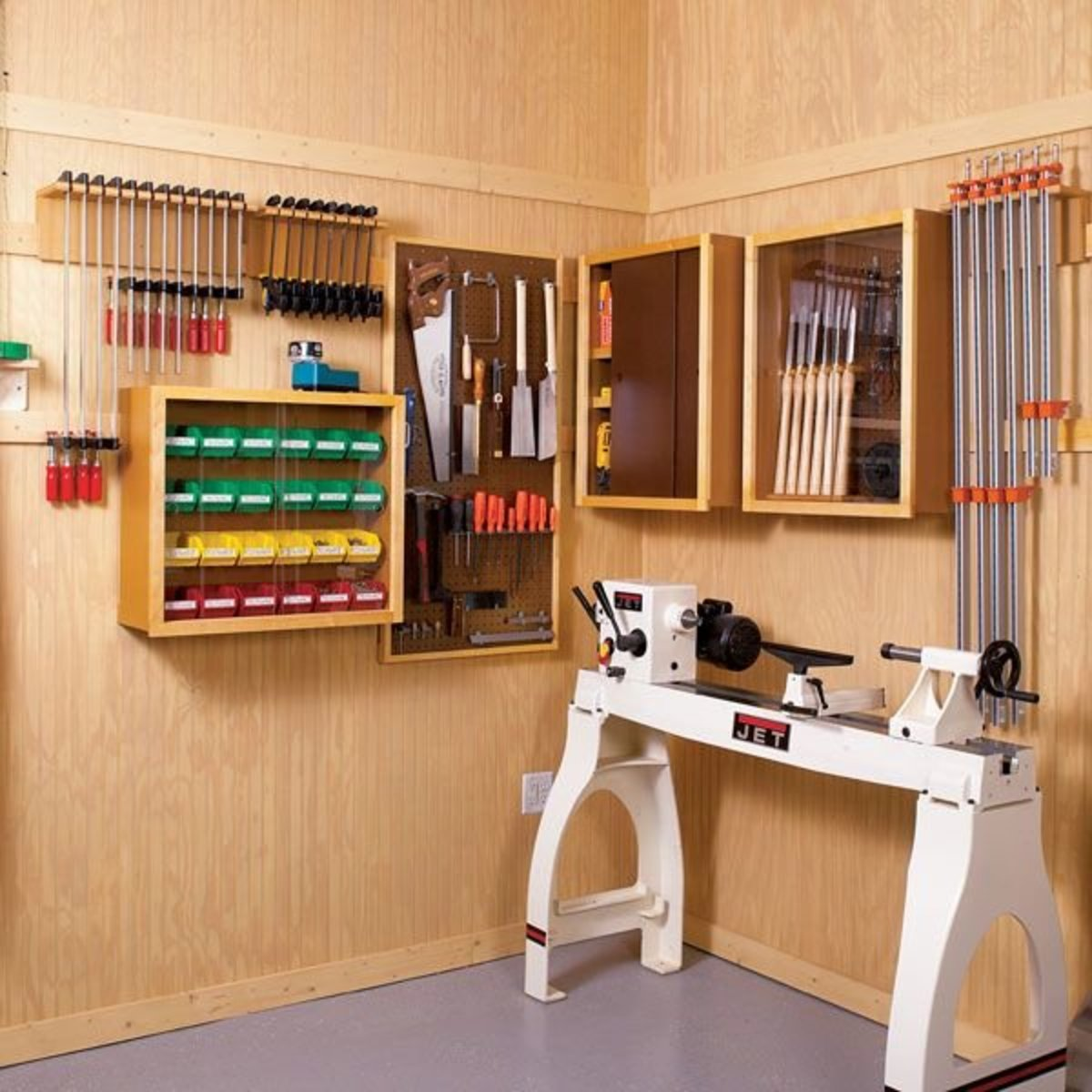 Flexible Garage Wall Storage: Woodworking Project Paper Plan To Build