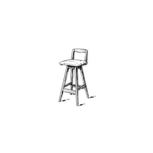 View a Larger Image of Woodworking Project Paper Plan to Build Swivel Bar Stool with Back