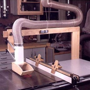 Woodworking Project Paper Plan to Build Tablesaw Dust Collector and Hold Downs