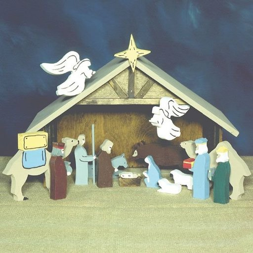 View a Larger Image of Woodworking Project Paper Plan to Build Tabletop Nativity, Plan No. 884