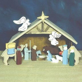 Woodworking Project Paper Plan to Build Tabletop Nativity, Plan No. 884