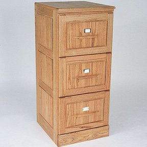 Woodworking Project Paper Plan to Build Three Drawer Filing Cabinet, Plan No. 727