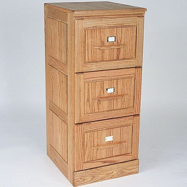 View A Larger Image Of Woodworking Project Paper Plan To Build Three Drawer  Filing Cabinet,