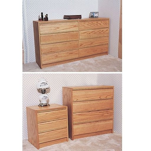 View a Larger Image of Woodworking Project Paper Plan to Build Three Piece Bedroom Set , Plan No. 768