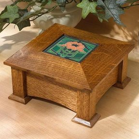 Woodworking Project Paper Plan to Build Tile-Topped Keepsake Box
