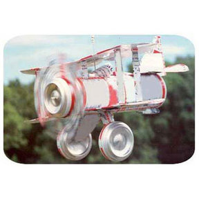 Woodworking Project Paper Plan to Build Tin Can Airplane