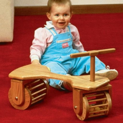 View a Larger Image of Woodworking Project Paper Plan to Build Toddler Town Car