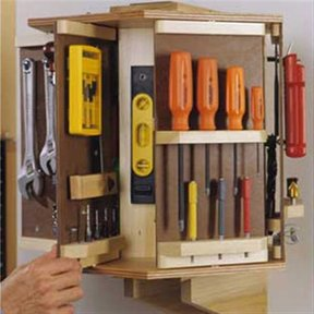 Woodworking Project Paper Plan to Build Tool Carousel