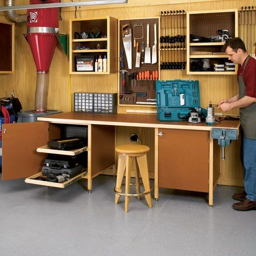 View a Larger Image of Woodworking Project Paper Plan to Build Tough-Stuff Workbench