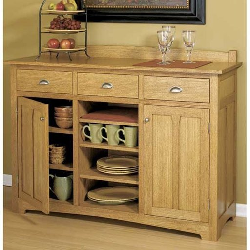 View a Larger Image of Woodworking Project Paper Plan to Build Traditional Sideboard