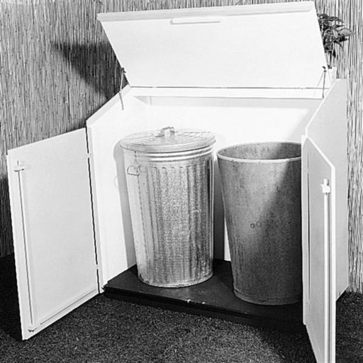 View a Larger Image of Woodworking Project Paper Plan to Build Trash Can Shelter, Plan No. 340