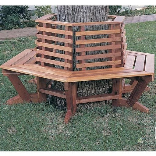 View a Larger Image of Woodworking Project Paper Plan to Build Tree Seat, Plan No. 911