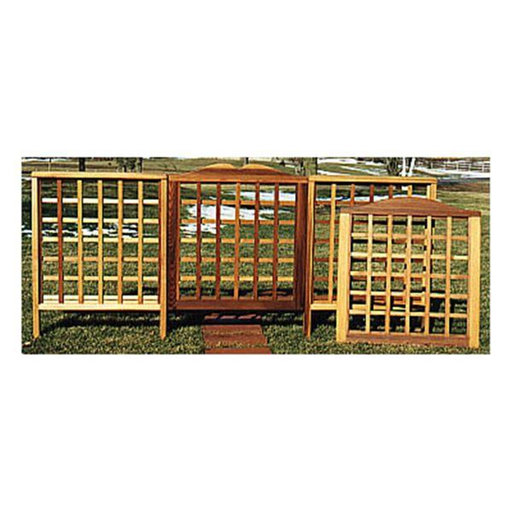 View a Larger Image of Woodworking Project Paper Plan to Build Trellis Fencing