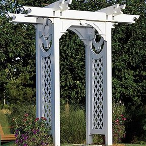 Woodworking Project Paper Plan to Build Trellised Arbor