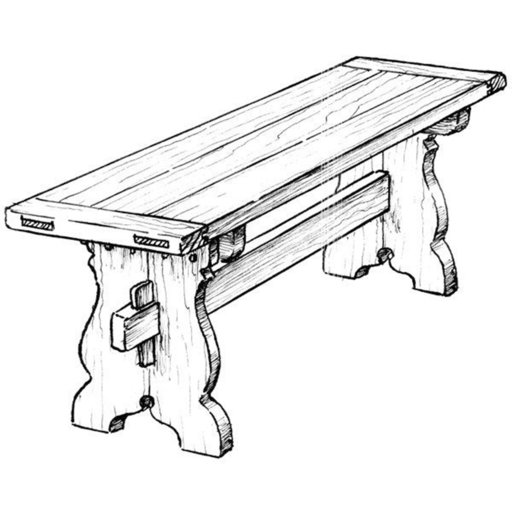 View a Larger Image of Woodworking Project Paper Plan to Build Trestle Bench