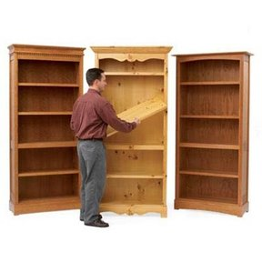 Woodworking Project Paper Plan to Build Trio of Bookcases