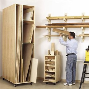 Woodworking Project Paper Plan to Build Triple-Threat Storage for Lumber, Scraps and Sheet Goods