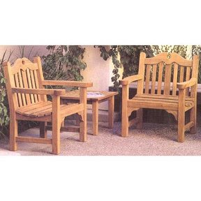 Woodworking Project Paper Plan to Build Tudor Chair and Table, AFD281