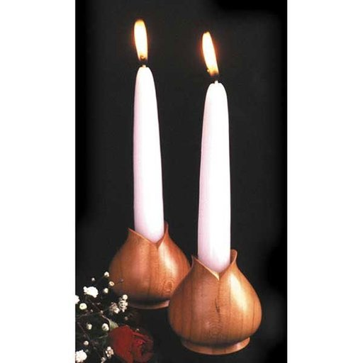 View a Larger Image of Woodworking Project Paper Plan to Build Turned Candleholders