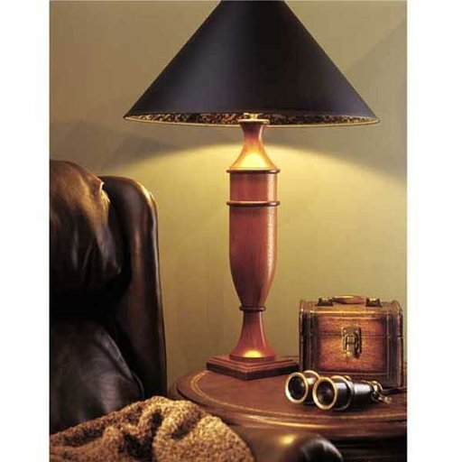View a Larger Image of Woodworking Project Paper Plan to Build Turned Table Lamp