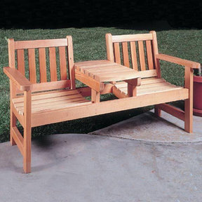 Woodworking Project Paper Plan to Build Twin Seater Bench