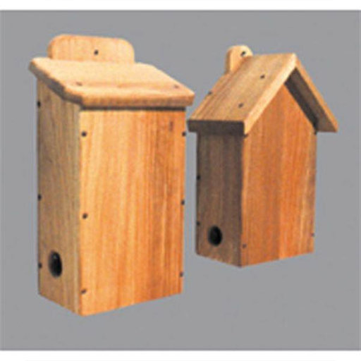 View a Larger Image of Woodworking Project Paper Plan to Build Two Bird Shelters
