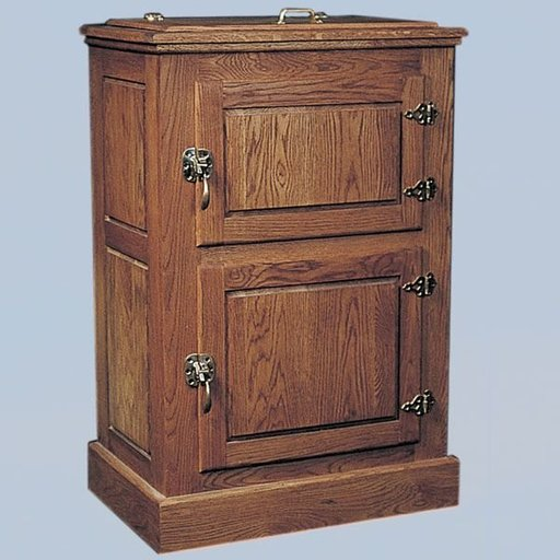 View a Larger Image of Woodworking Project Paper Plan to Build Two-Door Ice Box, Plan No. 686