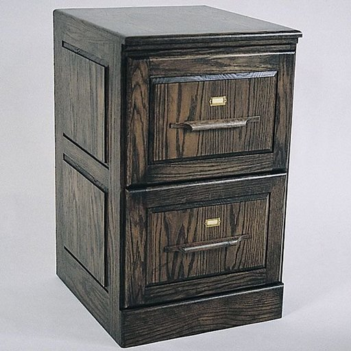 View a Larger Image of Woodworking Project Paper Plan to Build Two Drawer Filing Cabinet, Plan No. 705