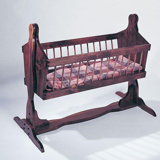 View a Larger Image of Woodworking Project Paper Plan to Build U-Bild Country Cradle