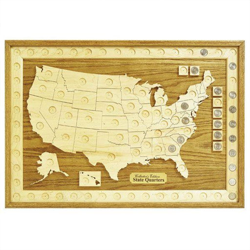 View a Larger Image of Woodworking Project Paper Plan to Build U.S. State Quarter Collection Board