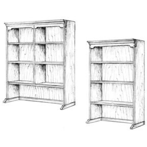 Woodworking Project Paper Plan to Build Upper Bookcase