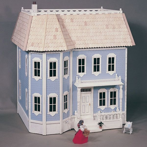 view a larger image of woodworking project paper plan to build victorian doll house plan - Build Your Own Model House