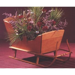 Woodworking Project Paper Plan to Build Vintage Tabletop Sleigh