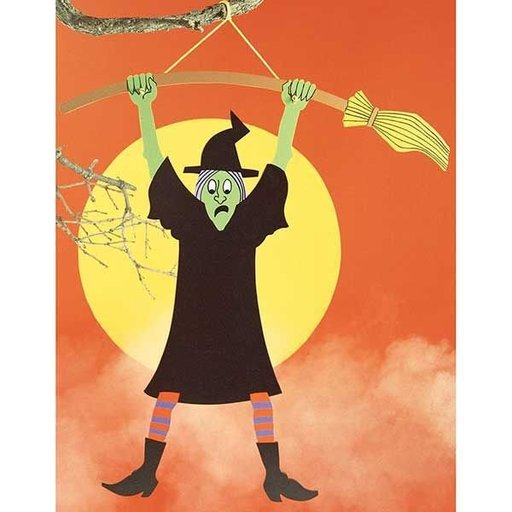 View a Larger Image of Woodworking Project Paper Plan to Build Wacky Witch