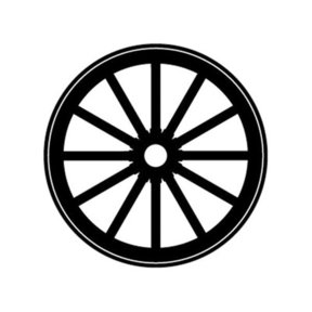 Woodworking Project Paper Plan to Build Wagon Wheel Shadow